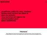 Le site web de l'agence MARS ROUGE